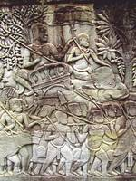 Bayon Temple Wall Bas Relief: Procession to the Ci