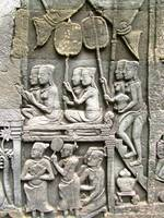 Bayon Temple Wall Relief - Honoring the King