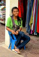 Cambodian Shop Girl