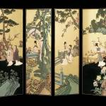 """Four Panel Oriental Screen"" by GalleryFinds"