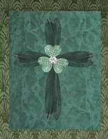 Green Trefoil Cross