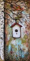 Bird House in Ferns