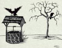 Ravens at an Old Well