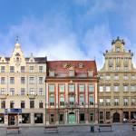"""Wroclaw Rynek westside street panorama"" by streetfront"