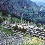 """Temple of Apollo and Theatre, Delphi 1960"" by PriscillaTurner"