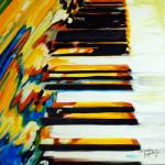 """JAZZ PIANO ABSTRACT"" by MBaldwinFineArt2006"