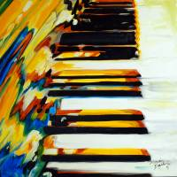 JAZZ PIANO ABSTRACT by Marcia Baldwin