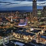 """Melbourne, Australia Skyline"" by sparrowhawk"