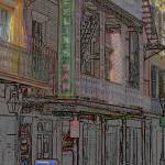 """New Orleans - Bourbon Street with ""Pencil"" Effect"" by Ffooter"