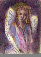 Wistful angel
