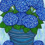 """Country Blues ""Hydrangeas"""" by LisaLorenz"