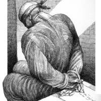 tied up! Art Prints & Posters by Touka Neyestani