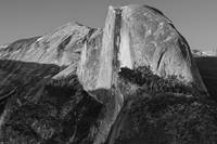 Half Dome from Glacier Pt. B&W