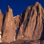 """""""Keeler Needle and Mt. Whitney sunrise"""" by JimDockery"""