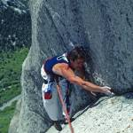 """Rick climbing in Little Cottonwood Canyon"" by JimDockery"