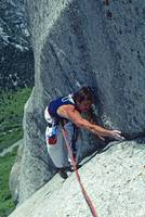 Rick climbing in Little Cottonwood Canyon