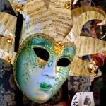 """Glittering Venetian Mask with Musical Theme"" by WilshireImages"