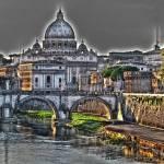 """""""Basilica di San Pietro - Tevere"""" by BenedettoIurlaro"""