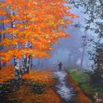 """""""Autumn Tree On A Misty Day"""" by tgministry"""