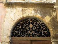 Unique Venetian door detail in Hania Old Town in C