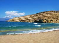 Matala beach Crete, Greece