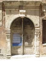 Old door on a Ottoman house - Chania, Crete , Old