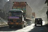 Afghan Jingly Jangly Trucks en route to Pakistan