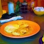 """""""Breakfast in Evergreen"""" by marla"""