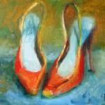 """""""Old Red Shoes"""" by FASIARTS"""