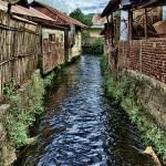 """River Backed Homes faded"" by Markomarko"
