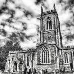 """Orlingbury Church (B&W)"" by InspiraImage"