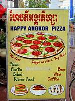 Happy Angkor Pizza Sign