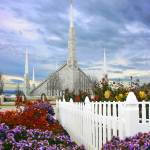 """20x24 Flower Garden Boise Temple"" by lightvoyages"