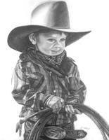 Child Cowboy with Rope