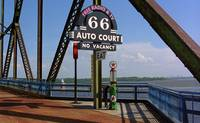 Route 66 - Chain of Rocks Bridge and Gas Pump