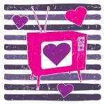 """RETRO TV HEART"" by icreate"
