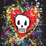 """PAINTED SKULL HEART"" by icreate"