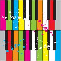 COLORFUL PIANO KEYS