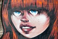 Red Hair Blue Eyes Graffiti Girl