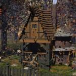 """""""Fantasy Cabin In Autumn"""" by spiderfingers"""