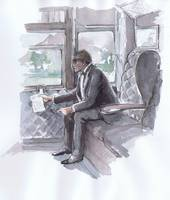 Holmes Reads Letter on the Train