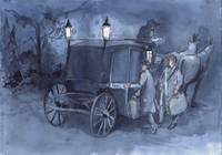 Holmes and Watson Boarding a Coach