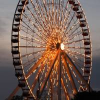 Chicago Ferris Wheel by Roger Dullinger