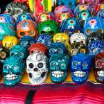 """Hand made and painted skulls for sale at the Santa"" by eyalna"