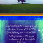 """Psalm 116 lonely tree"" by Julietart"
