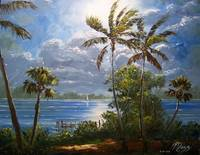 Moonlit Tropics Painting