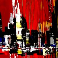 skyline city paintings Art Prints & Posters by Eric Aristidou
