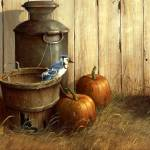 """bluejay-pumpkin"" by MerrillCoffin"