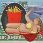 """A Dollar Meal"" by claudebuckleyfineart"