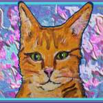 """Orange Kitty"" by paintingsbygretzky"